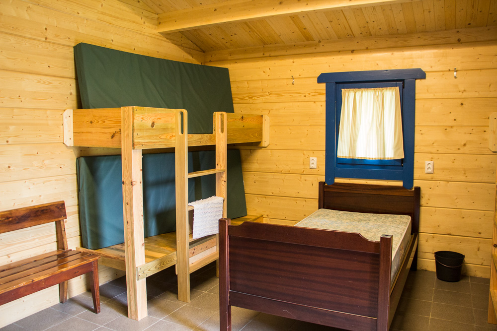 Camp cabin interior